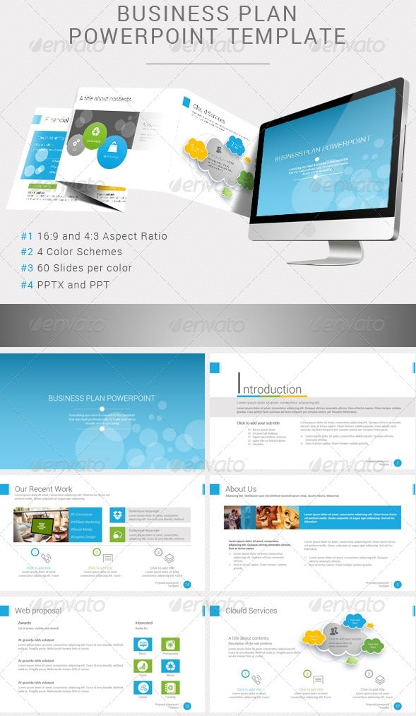 Free And Premium PowerPoint Templates Pixelscom - Business plan powerpoint template free