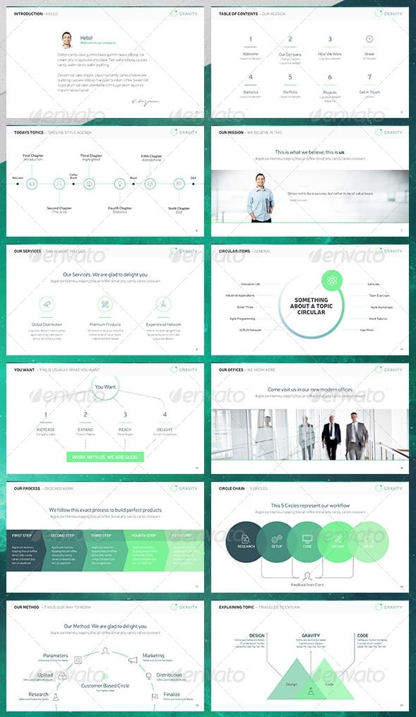 Free And Premium Powerpoint Templates  PixelsCom