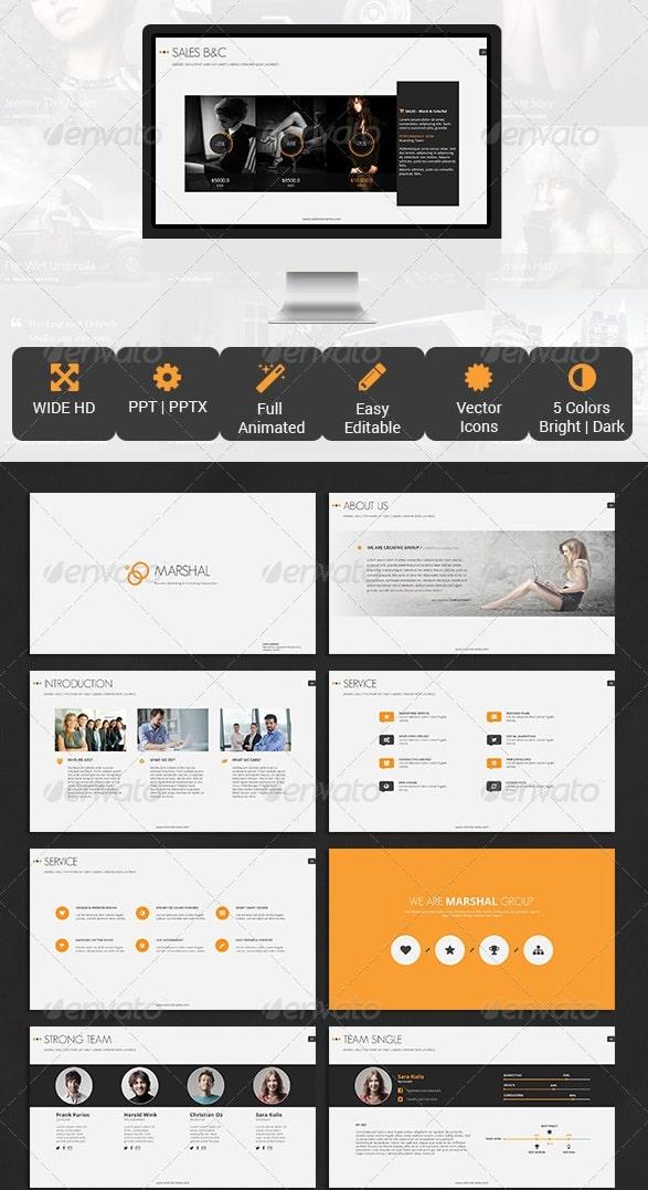 free and premium powerpoint templates | 56pixels, Presentation templates
