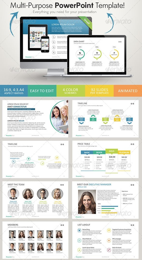 presentawise powerpoint template