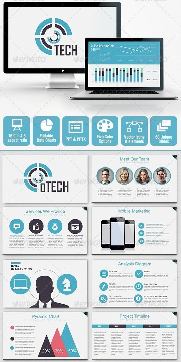 Free and premium powerpoint templates 56pixels tech business powerpoint presentation toneelgroepblik Gallery