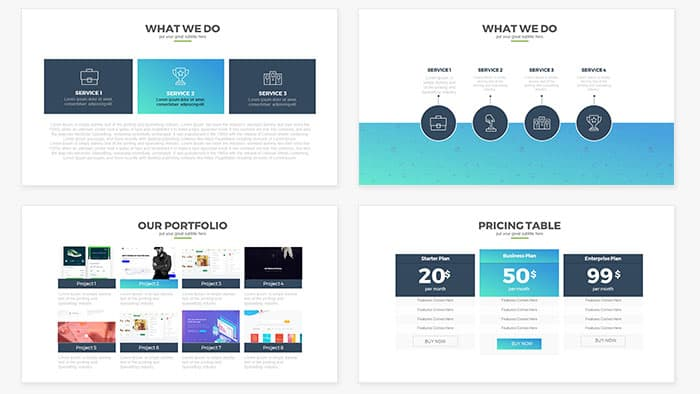 Report Multipurpose Free PowerPoint Template