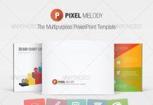 pixel melody powerpoint template