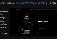 aladin-personal-cvresume-portfolio-template