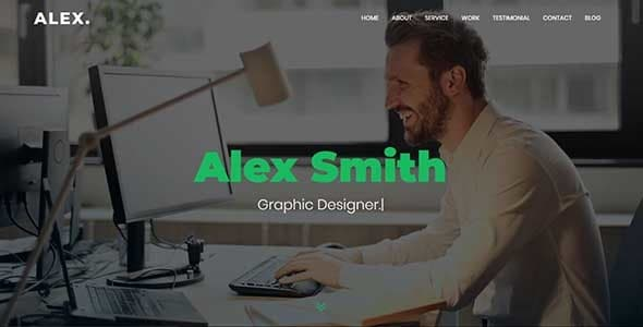alex - personal portfolio template