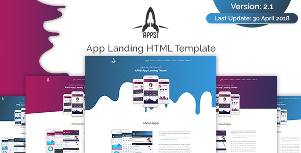 appsi-app landing html template