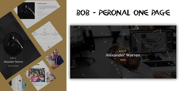 bob - personal one page template