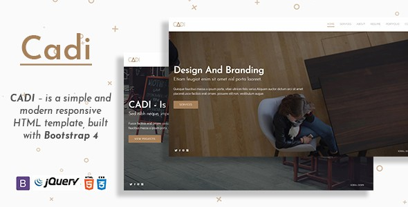 cadi - is a portfolio & resume template