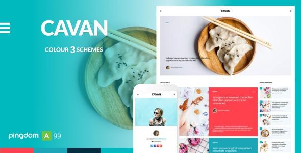 cavan - a distinctive blog template