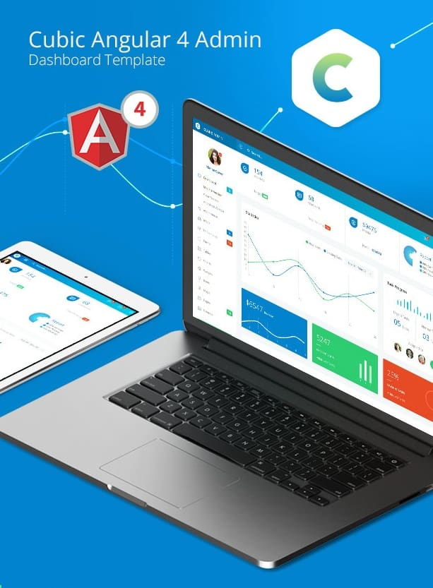 cubic - angular 4 admin template with multiple dashboard