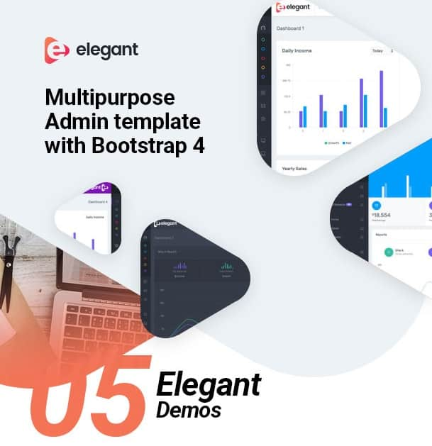 elegant bootstrap 4 admin template