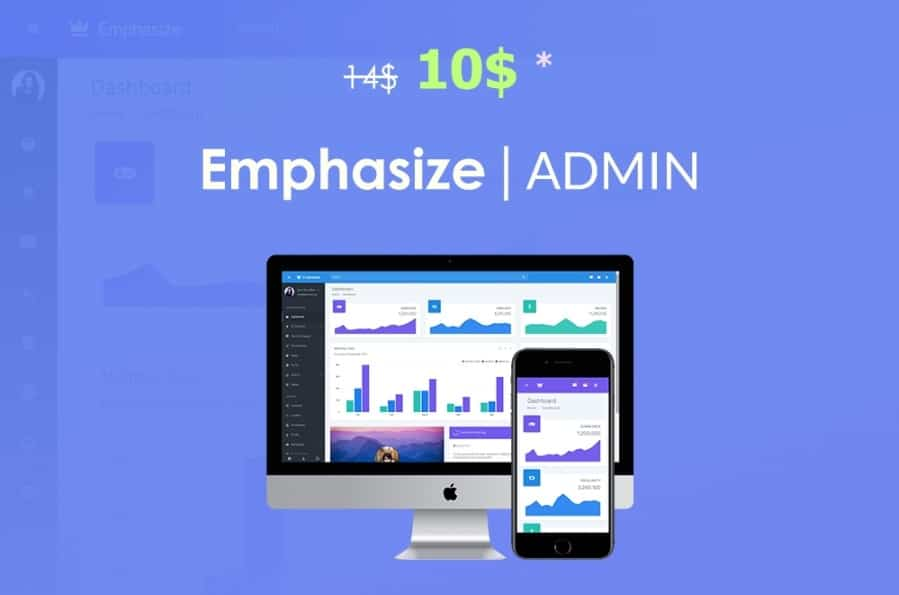 emphasize bootstrap admin dashboard template and ui