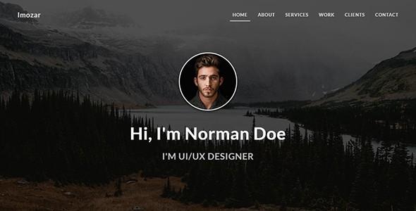 imozar - personal portfolio website templates