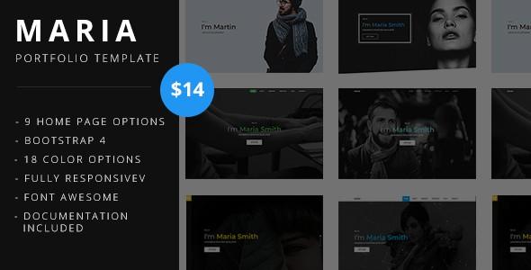 maria - portfolio template