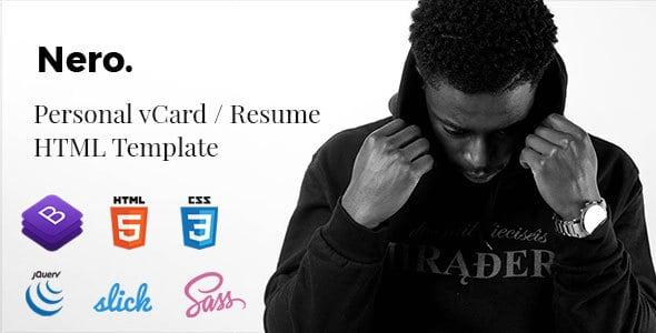 nero - personal vcard / resume template