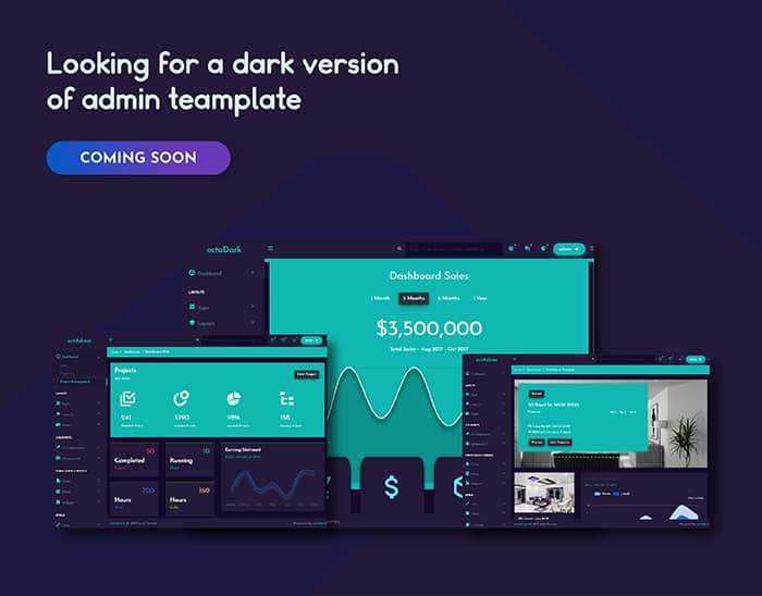 octadmin - responsive multipurpose bootstrap 4 admin template