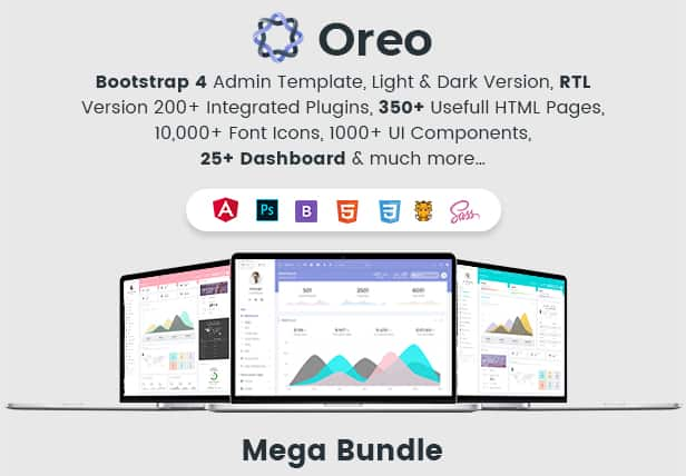 oreo - bootstrap4 angular 5 dashboard with light & dark version + ui kit