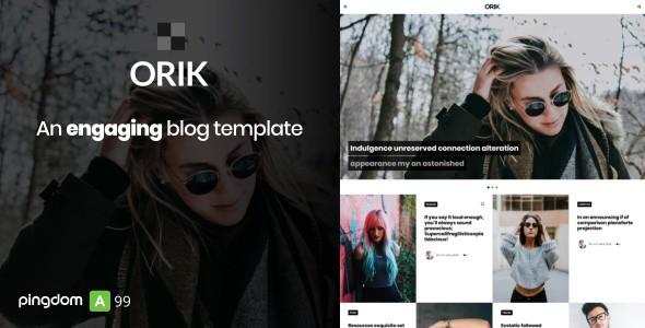 orik - an engaging blog template