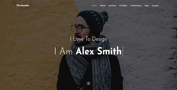 personala - one page portfolio