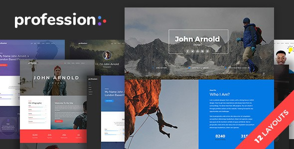 profession - personal one page portfolio template