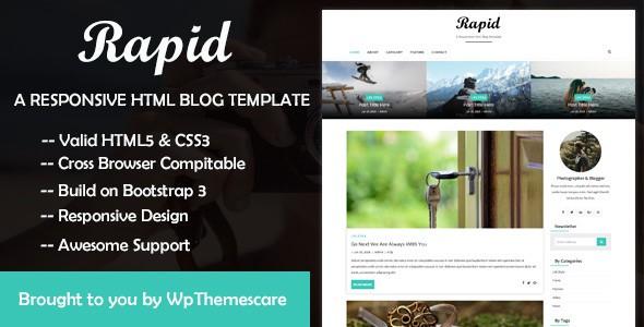 rapid - a responsive html blog template