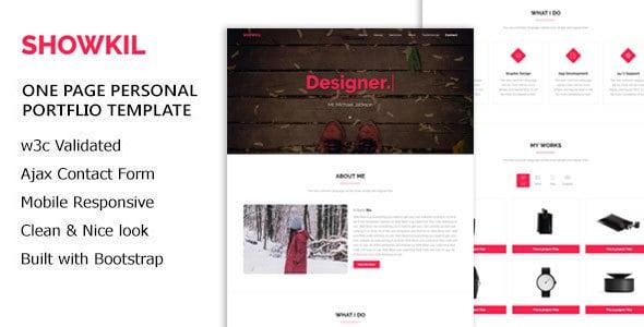 showkil - personal portfolio html5 template