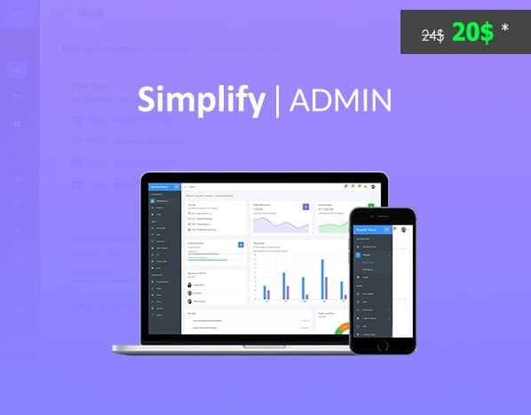 simplify admin bootstrap 4 dashboard template and ui kit for angular 5 or jquery