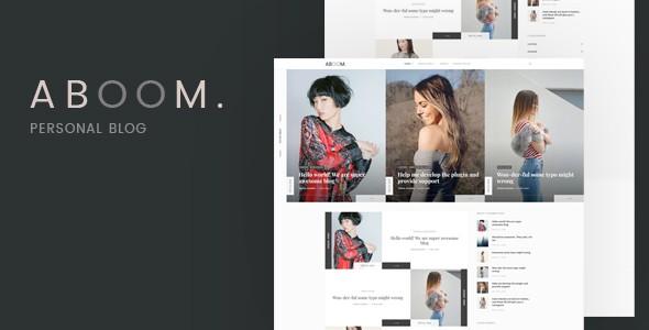 aboom - personal blog wordpress theme