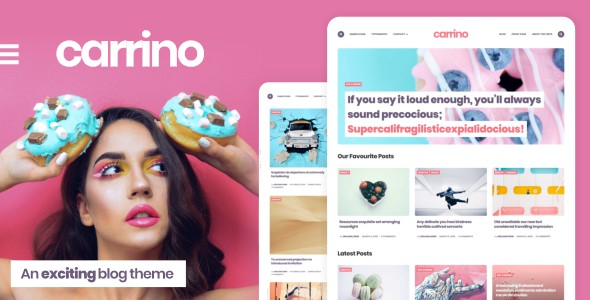 carrino - an exciting blog theme