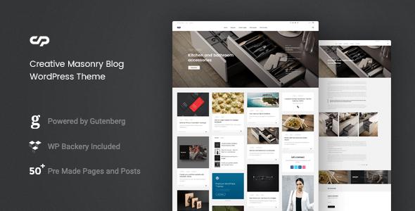 clapat - creative masonry blog wordpress theme