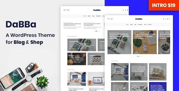 dabba – a wordpress theme for blog & shop