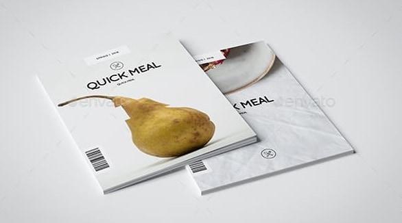 indesign food magazine template