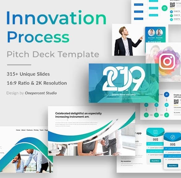 innovation process pitch deck powerpoint template