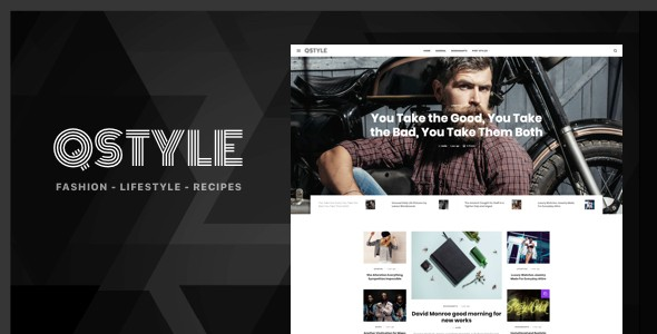 qstyle - a wordpress theme for bloggers