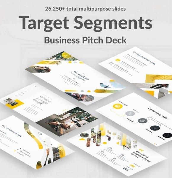 target segments pitch deck powerpoint template