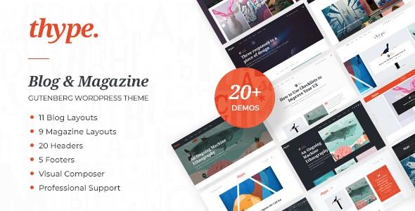 thype   multi-concept blog & magazine wordpress theme