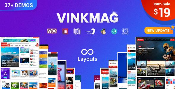 vinkmag - multi-concept creative newspaper news magazine wordpress theme