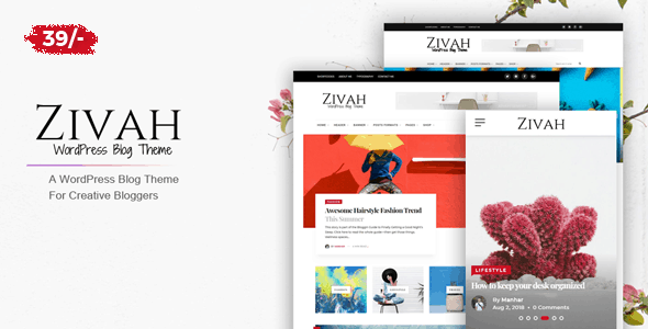 zivah - creative theme for creative bloggers