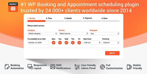 bookly pro – appointment booking and scheduling software system